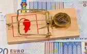 Euro zone crisis concept — Stock Photo