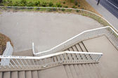 Overpass staircase with white rails — Stock Photo
