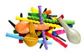 Isolerade nya olika ballonger — Stockfoto