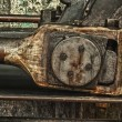 Grunge old piston of steam engine - Stock Photo
