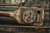 Grunge old piston of steam engine — Stock Photo