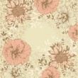 Vintage floral background with flowers - Stock Vector