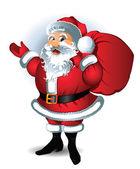 Santa claus. vektorové ilustrace. — Stock vektor