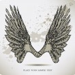 Wings of a crow. Vector illustration — ストックベクタ