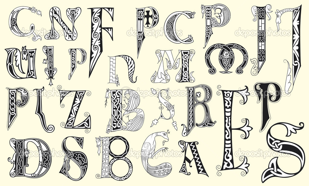 Capital Letters in Calligraphy Medieval Capital Letters