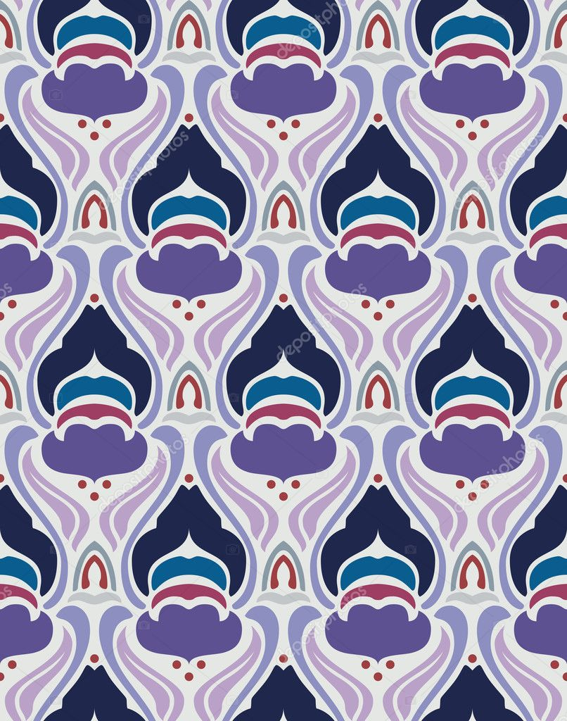 Art deco seamless pattern in editable vector file  Vektorgrafik #7321601