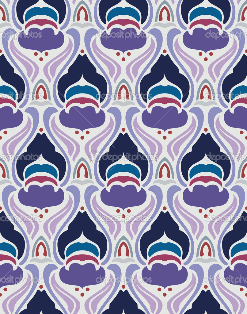 Art deco seamless pattern in editable vector file  Grafika wektorowa #7321601