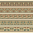 Set of five decorative borders — Stok Vektör