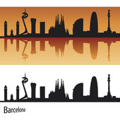 Skyline de barcelona — Vector de stock
