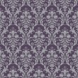 Damask seamless pattern in purple and gray — Stock Vector