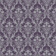 Damask seamless pattern in purple and gray - Stock Vector