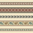 Set of seven decorative borders ornamental — Stockvectorbeeld