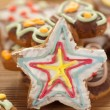 Stock Photo: Star shaped gingerbread