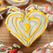 Heart shape gingerbread — Stock Photo
