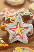 Star shaped gingerbread — Stock Photo