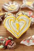 Heart shape gingerbread — Stock Photo