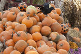 Pile up Pumpkins for Halloween — Stock Photo