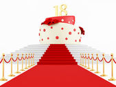 Birthday cake on the top — Stock Photo