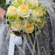 Stock Photo: Bridal bouquet of yellow roses