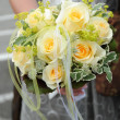 Bridal bouquet of yellow roses — Stock Photo