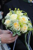 Bruids boeket gele rozen — Stockfoto