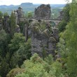 The bastei bridge — Stock Photo