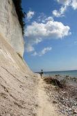 Chalk cliffs on rügen — Stock Photo