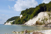Chalk cliffs on rügen — Stock Photo