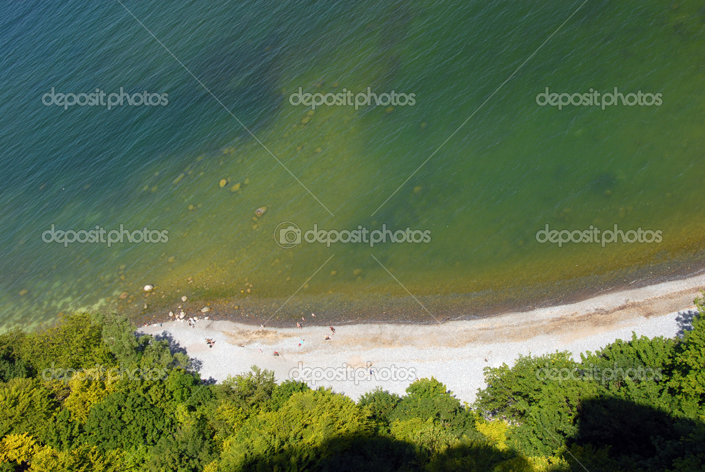 Sandy Beach on Ruegen at the jasmund national park — Stock Photo #7115373