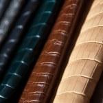 Rainbow of leather — Stock Photo