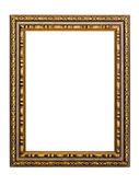 Guld-mönstrad ram för en bild — Stockfoto