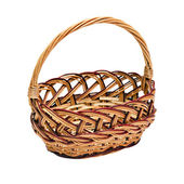 Wickerwork basket with handle — Stock Photo