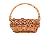 Wickerwork basket with handle — Стоковое фото