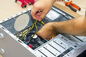 Assembling a PC — Stock Photo