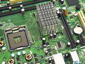PC motherboard closeup — Stock Photo