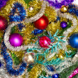 New background of Christmas decorations — Stock Photo