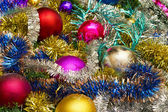 New background of Christmas Ornaments — Stock Photo