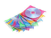 A stack of colored discs — Stock Photo