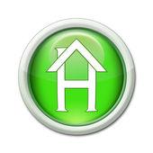 Bouton internet maison — Stock Photo