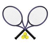 Raquettes de tennis — Stock Photo