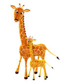 Maman girafe et son bébé — Stock Photo