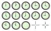 Les douze heures de l'horloge — Stock Photo