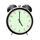 Cinq heures sur le réveil — Stock Photo