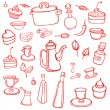 Royalty-Free Stock Vector Image: Kitchen background