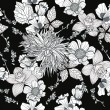 Seamless pattern with flowers. Floral background. — Imagen vectorial