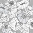 Stok Vektör: Seamless floral pattern. Background with poppy flowers.