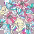 Seamless pattern with flowers. Colorful floral background. — Stockvectorbeeld