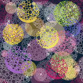 Abstract cute seamless polka dot circle background pattern. — Stock Vector