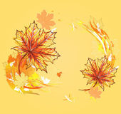 Background with maple leafs. Autumn leafs background. — Stock Vector