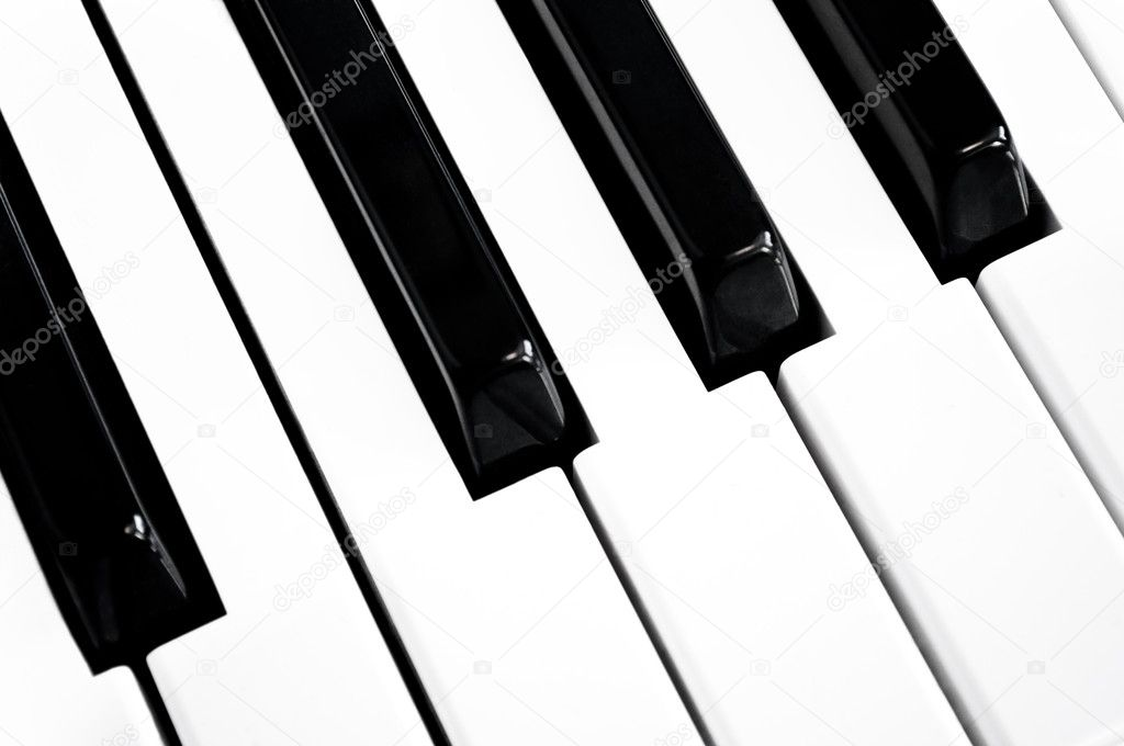 Close up on a section of black and white keys on a musical keyboard. — Stock Photo #7160822